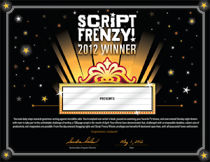 My Script Frenzy Certificate