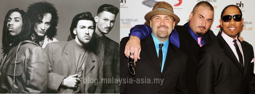 Color Me Badd - before and after