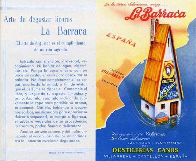 1.-Etiqueta, la barraca, licores, efimera, colecciones museo etnologia Valencia