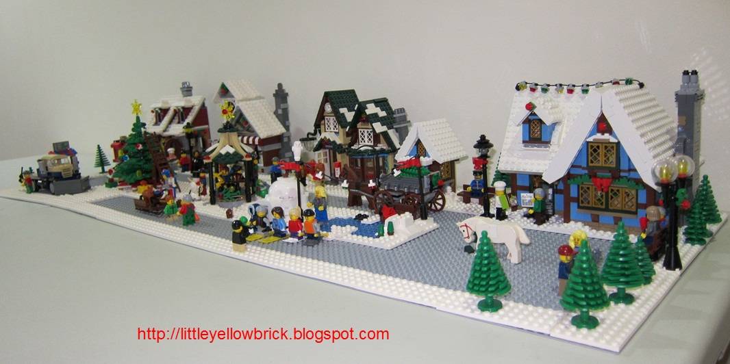 Little yellow brick a lego blog our lego winter village for Village town