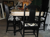 FRENCH GARDEN TREASURES TWO TONE DINING SET