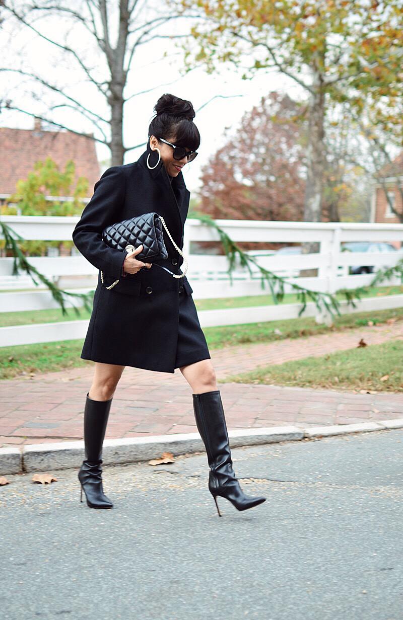 Total black look street style