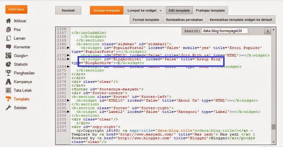 Cara Membuat Title Otomatis Pada Widget Archive Blog