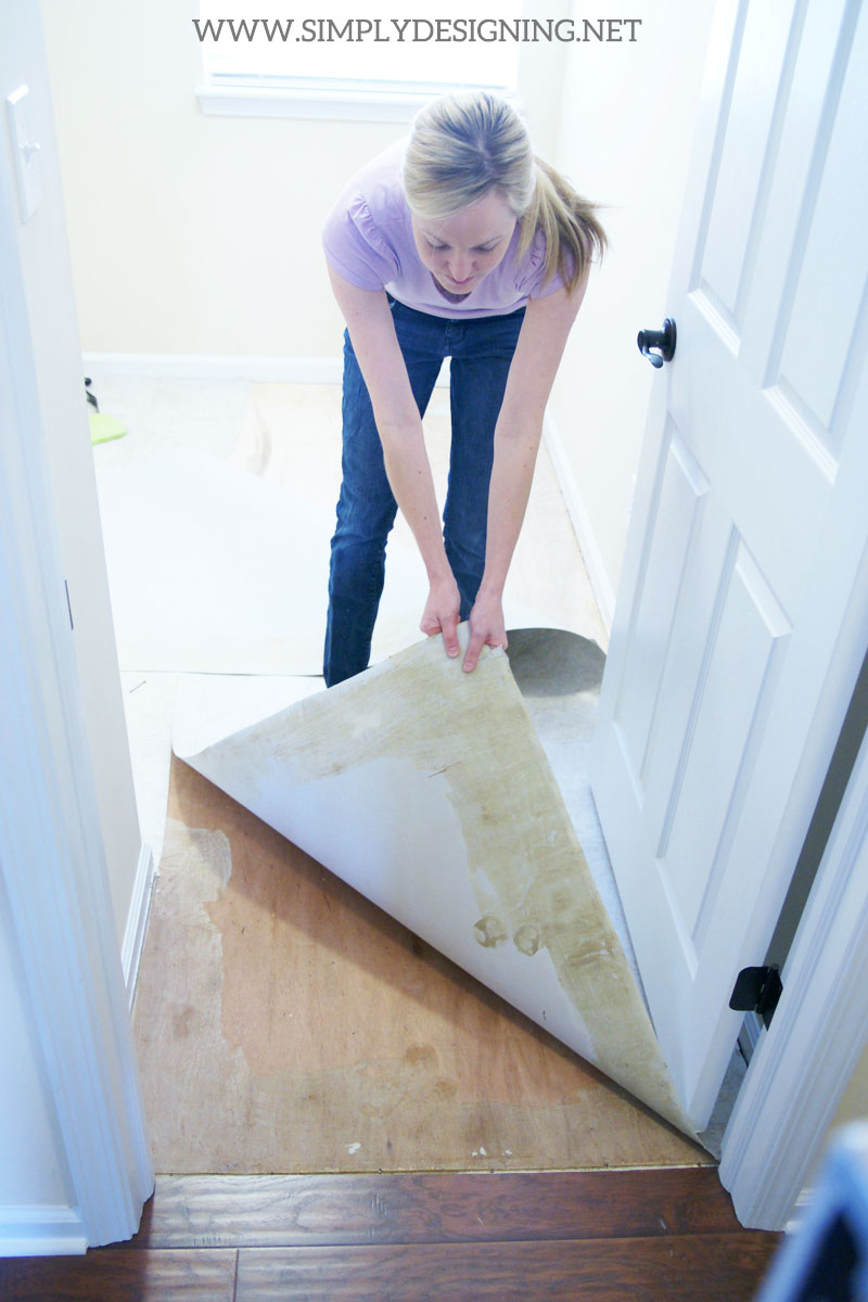 How to Install Hexagon Tile Floors: demo | a complete tutorial for how to demo, prep, install concrete backer board and install new tile floors | #diy #tile #homeimprovement #hexagontile #travertine #thetileshop @thetileshop