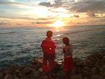 Siluet Senja Pantai Cemara