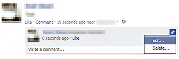 """Pentru a modifica un comentariu pe Facebook accesati optiunea """"Edit"""""""
