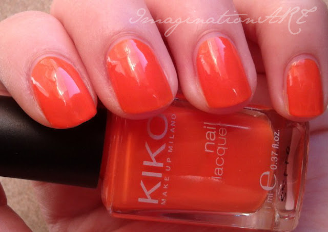 kiko 280 arancione swatch smalto unghie nail polish lacquer orange