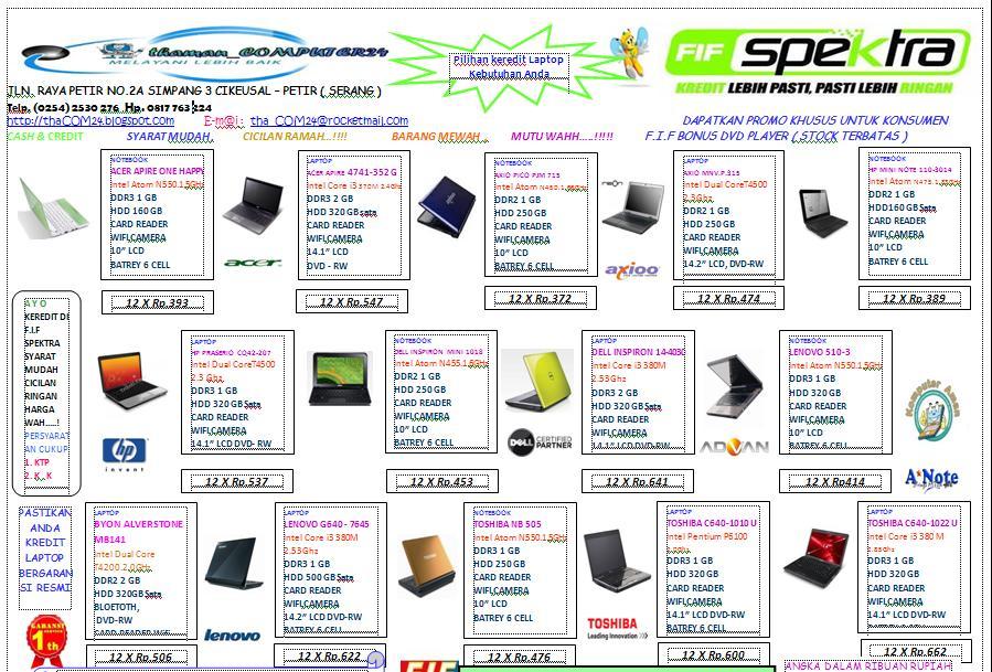 contoh desain brosur komputer