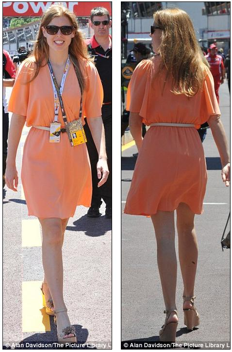 Watch out, Pippa! Beautiful Bea is the new Royal Hotness: Princess sizzles at Monaco Grand Prix