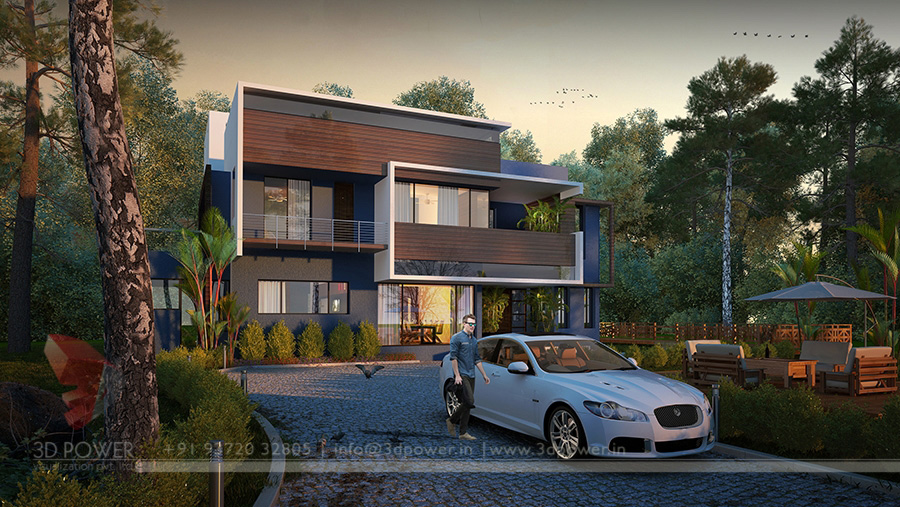 Ultra modern home designs home designs architectural House plan 3d view