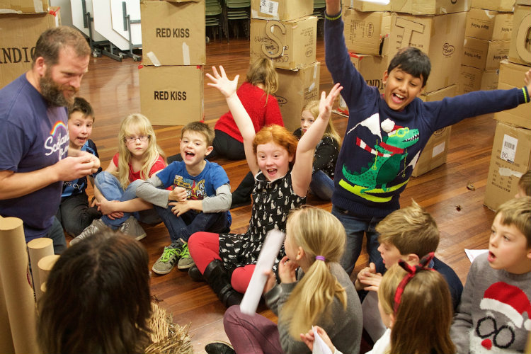 Youngsters at East Ayton Primary School enjoying the workshop.