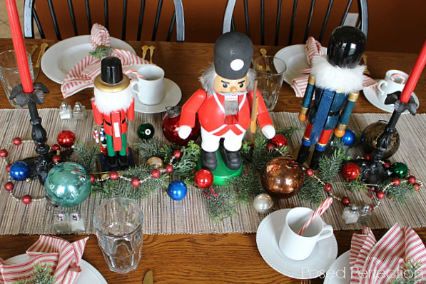 Dining with Nutcrackers ~ using Christmas collections in tablescapes
