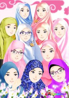 foto gambar para wanita muslimah
