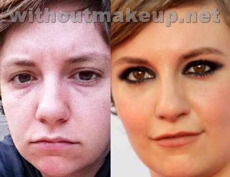 Lena Dunham without makeup