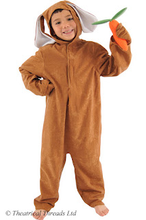 Brown rabbit kids costume from Theatrical Threads Ltd