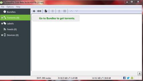 Tampilan uTorrent 3.4.6 Build 41079