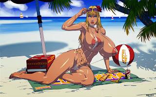рисунок девушки в бикини