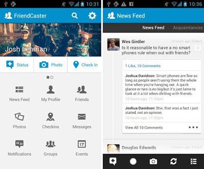 nuevas aplicaciones facebook, friendcaster