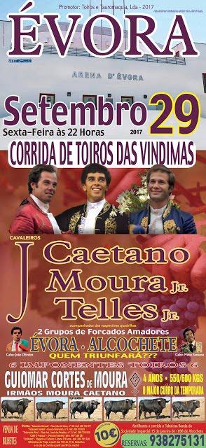 ÉVORA (PORTUGAL) 29-09-2017. CORRIDA A PORTUGUESA.