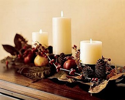 Visi n interiorista decoraci n navide a con pi as - Decoracion navidena con pinas ...