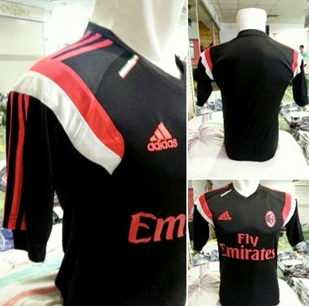 Jersey AC.Milan Prematch Training Hitam 2015