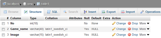 change column size in mysql table