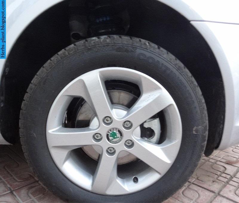 Skoda fantasia car 2013 tyres/wheels - صور اطارات سيارة سكودا فانتازيا 2013