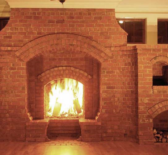 Covering a brick fireplace - Brick Laminate Picture Brick Inglenook Fireplace