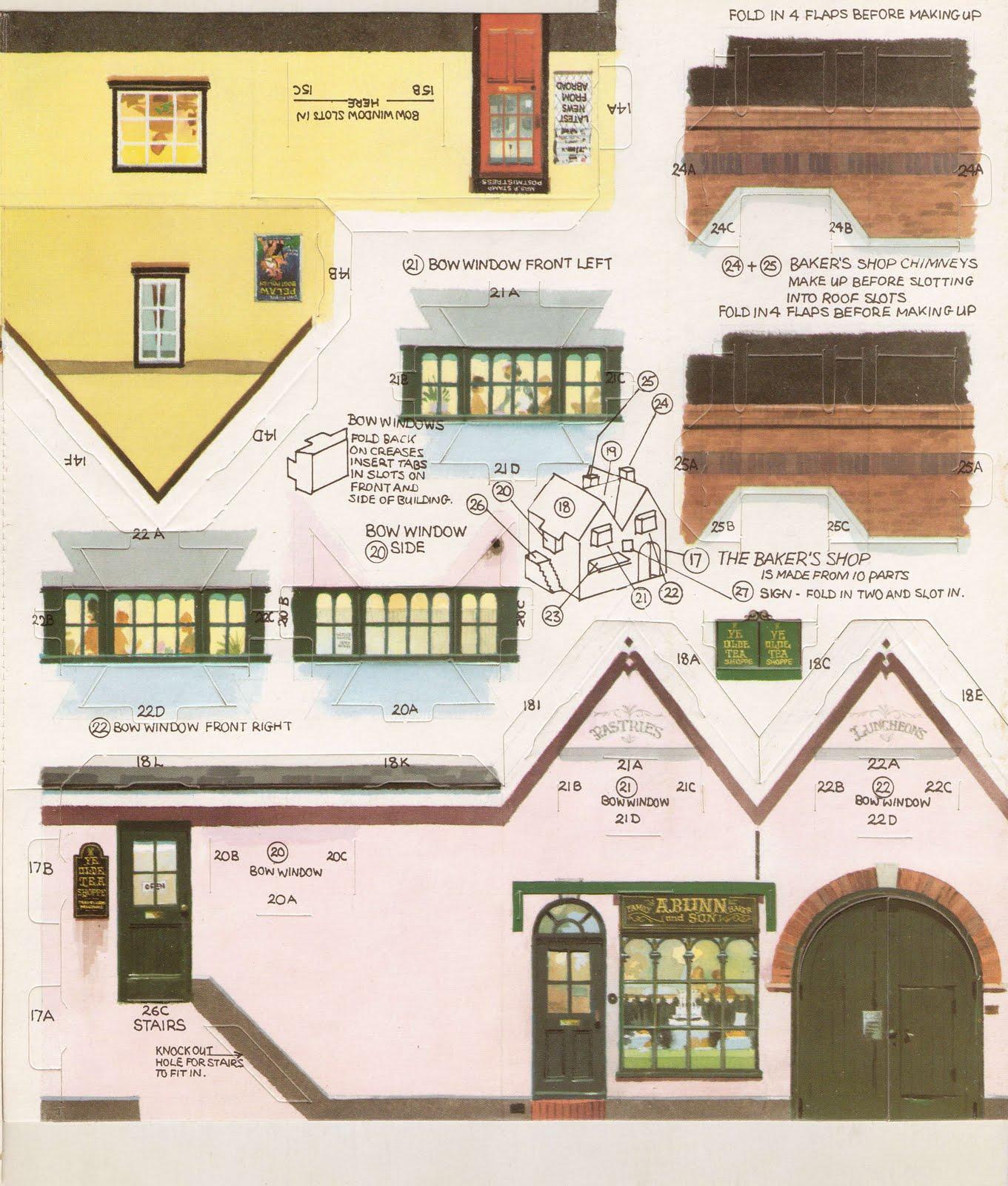 Printable houses on pinterest paper models paper houses for Building model houses