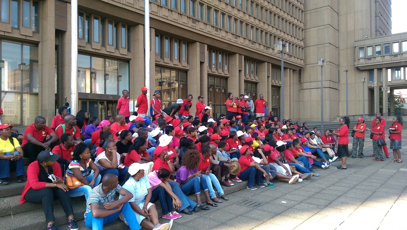 The city failed to honour its promise to meet them and pastor mukhuba stepped up the campaign to be heard hence today s sit in they are determined to stay