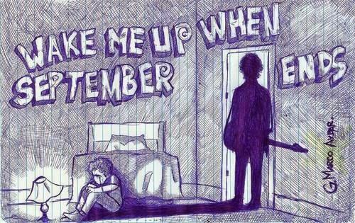 Chord Gitar Green Day - Wake Me Up When September Ends