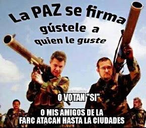 Santos dreigt: stem straks voor mijn vrede met mijn FARC of...