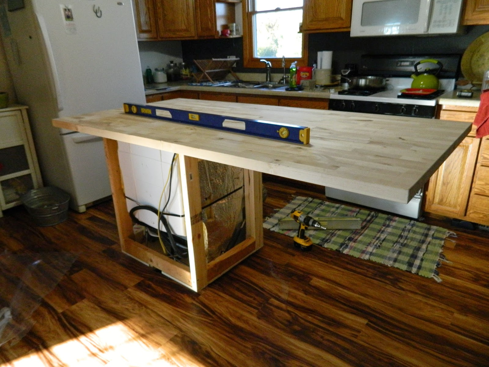 Countertop Dishwasher Craigslist : Then while Cowboy put legs on the end. I started the process of oiling ...