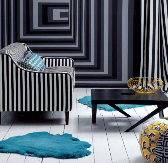 Safari Fusion blog | Monochrome + wire | Simple monochrome style with splashes of yellow and turquoise