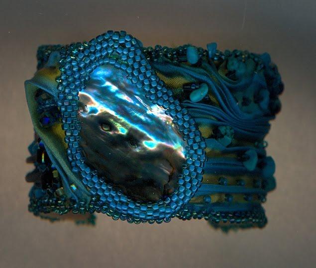 Paua shell cuff