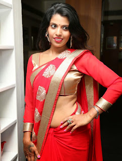 Manisha Pillai latest hot saree stills