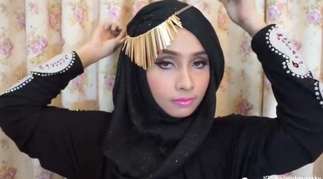 inspirasi tutorial hijab raya