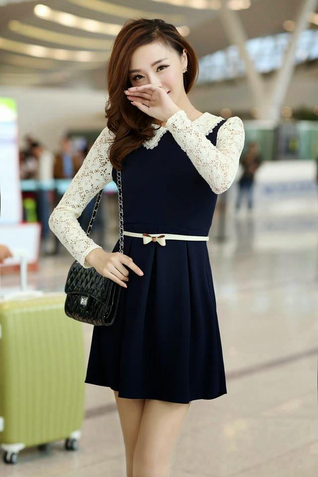 2 model baju wanita korea lengan panjang modis terbaru gaya masa,Model Baju Wanita Korea