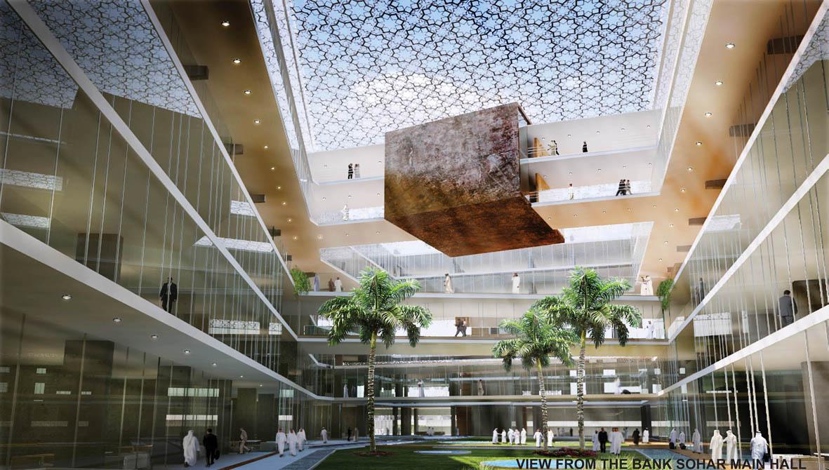 Unbuilts architectural design competition sohar bank for Bank designs architecture