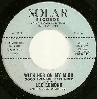 Lee Edmond and his Country Stingers - With Her On My Mind (Good Evening Bartender) - Take My Heart Please Don't Let It Break