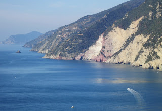 The Cinque Terre coast from Palmaria Island, Liguria
