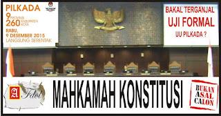Pilkada serentak 2015 bakal tersandung 2 Uji Formal UU Pikada ?