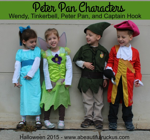 halloween 2015 peter pan characters ellie abby elijah and caleb