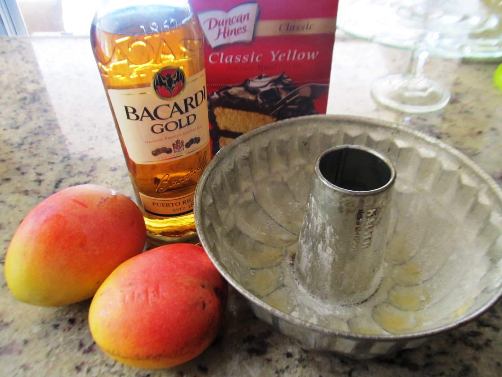 Food and Thrift: Mango Rum Cake