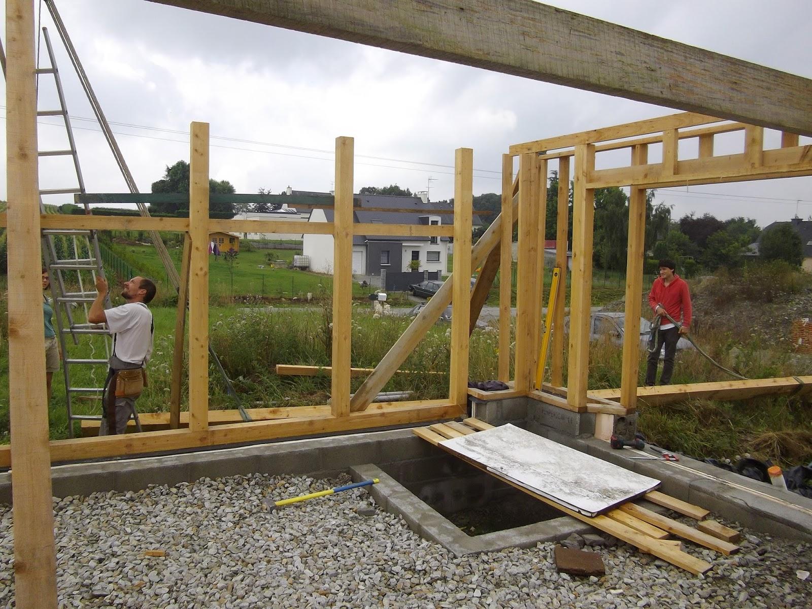 Construction de notre maison en bois et paille ossature for Lisse haute ossature bois