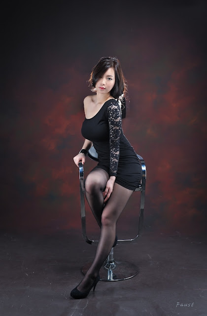 2 Im Ji Hye in Black-very cute asian girl-girlcute4u.blogspot.com