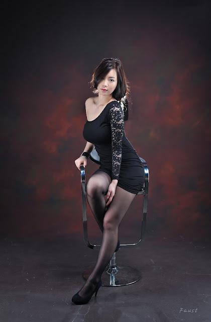 2 Im Ji Hye in Black-very cute asian girl-girlcute4u.blogspot.com