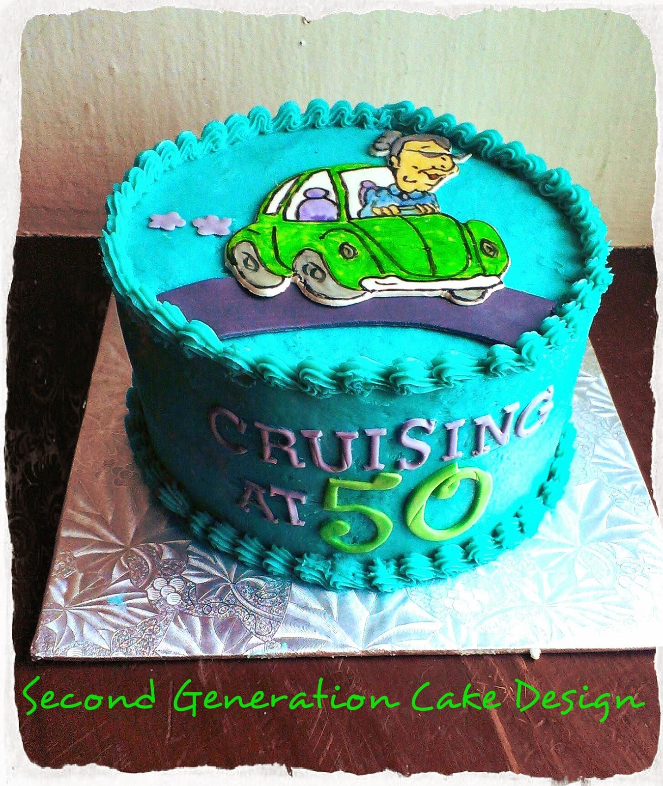 Cruising At 50 Birthday Cake