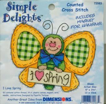 вышитая бабочка, simple delights, i love spring