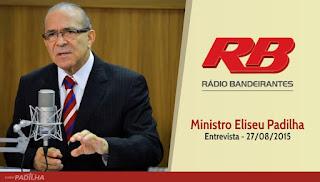 Ministro Eliseu Padilha concede entrevista à Rádio Bandeirantes
